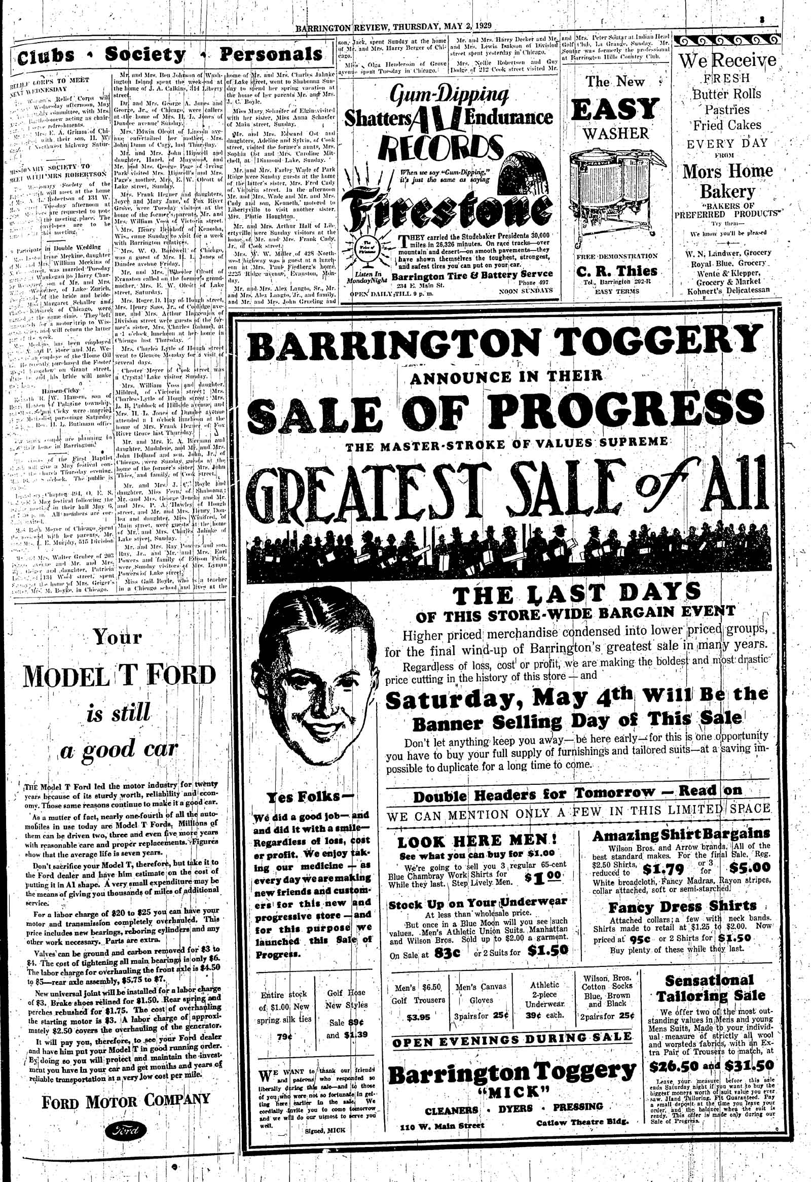 Barrington Area Library - Barrington Courier-Review Marriages 1920-1929