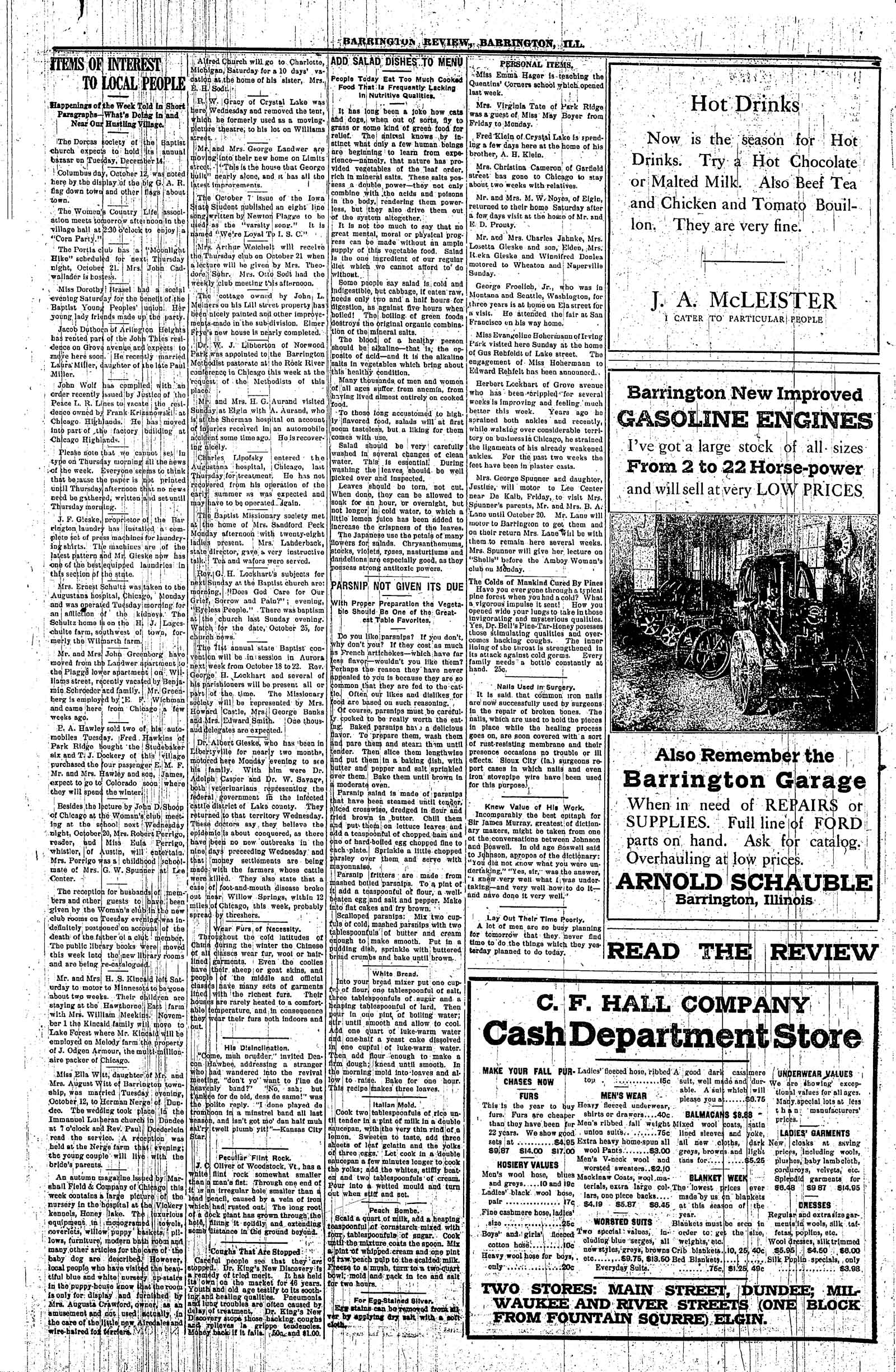 Barrington Area Library Barrington Courier Review Marriages 1910 1919