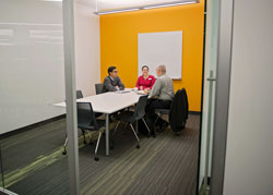 Photograph of small group study room